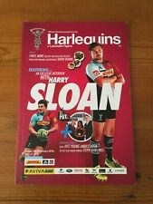Harlequins Rugby Club Programme - vers Leicester Tigers 2016 - Harry Sloan