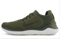 Nike Free RN 2018 Running Shoes Cargo Khaki Green Black 942836-300 Men's NEW