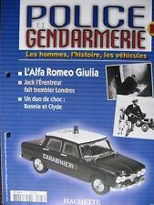 FASCICULE 65 POLICE GENDARMERIE  ALFA ROMEO GIULIA CARABINIERI / R8 PIE JOUSTRA