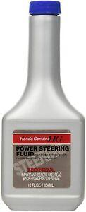 Genuine Honda Fluid 08206-9002 Power Steering Fluid - 12 oz New Free Shipping