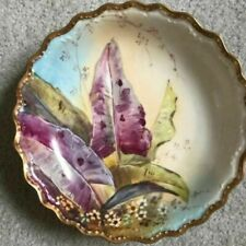 Limoges France Hand Painted Bowl Gold Trim