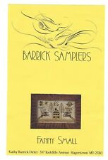 1998 BARRICK SAMPLERS - FANNY SMALL - CROSS STITCH   **CHART ONLY**