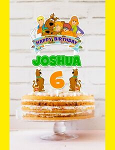 Scooby Doo Cake Topper Personalised *STURDY* Kids Birthday Party Decorations