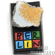 Real Piece of BERLIN WALL ON MAGNET Authentic Historic German Artifact Souvenir