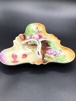 Vintage Thames Hand Painted Divided Trinket Dish Tray Japan Porcelain Fruit Desi