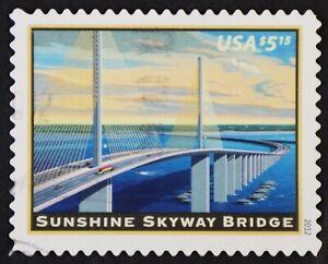 U.S. Used #4649 $5.15 Sunshine Skyway Bridge, Cancel Clears Design. Choice!
