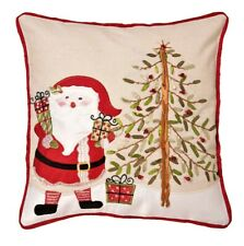 Christmas Cushion Covers Applique and embroidered 16 inch (43cm in Red and Green