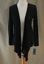 Lark Lane, Medium, Black Graphic Appeal, Open Front Cardigan, New with Tags