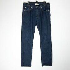 Gap Jeans Mens 32x32 Slim Fit Dark Wash Cotton Blend Zip Fly Blue