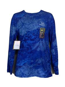 Performance Tee Shirt Long Sleeve UPF 30+ Realtree Fishing Blue WAV3  2XL 50/52