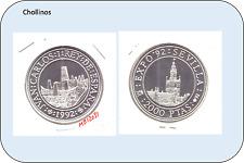 2000 PESETAS DE PLATA  JUAN CARLOS I   AÑO 1992     ( MB12031 )