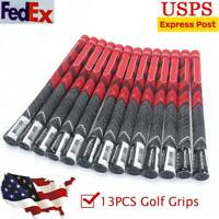 13X GOLF GRIPS FOR GOLF CLUBS SET OF MULTI COMPOUND RUBBER STANDARD ORANGE /RED