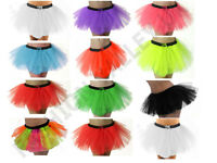 NEON TUTU ACCESSORIES 80's FANCY DRESS SKIRT NECKLACE HEAD BAND BRACES TIES LOT