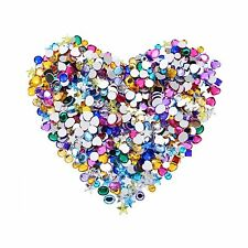 Blulu 600 Pieces Gems Acrylic Craft Jewels Flatback Rhinestones Gemstone -NEW