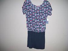 I Love H81 Womens Size L New Multi-Color Floral Mini Blouson Dress Cap Sleeves