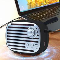 Black Super Bass Portable TWS Wireless Bluetooth 5.0 Speaker FM USB Stereo W/TF