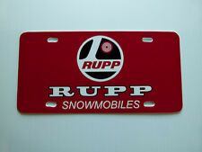 Vintage Rupp Snowmobile Logo Novelty License Plate