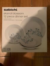 Sabichi Black and White 12pc Dinner Set