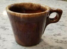 Vintage Hull Oven Proof Brown Drip Coffee Mug Cup O-Handle USA