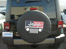 """JEEP Wrangler Liberty All American Flag 33"""" Inch Soft Spare Tire Cover NEW"""