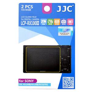 JJC LCP-RX100III Camera LCD Film Protector for SONY RX100II III VI V RX1R RX1RII