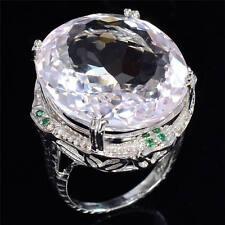 Woman Men 925 Silver Ring Huge 6.2ct White Topaz Vintage  Wedding Prom Size  8