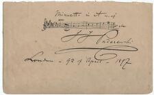 1897 Ignace Paderewski Musical Quotation Signed