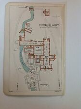 Fountains Abbey 1901 Antique Floor Plan Yorkshire Original Bartholomew