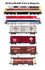 Erie Lackawanna Erie Delaware Lackawanna & Western Train 6 magnets Andy Fletcher