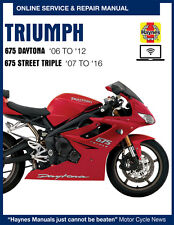 2014 Triumph Street Triple R Haynes Online Repair Manual - Select Access