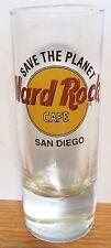 "HARD ROCK CAFE    SAN DIEGO   SAVE THE PLANET   BLACK LETTERS  4"" SHOT GLASS"