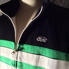 Ecko Unltd. Large Zip Front Jack, Black, white and Blue  Rino Emblem on front