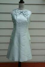 VINTAGE 1960'S  PAT SANDLER WOMAN'S DRESS AQUA GREEN SILK SIZE M