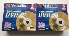 VERBATIM X10 Discs LIGHTSCRIBE DVD-R 16X 120 MIN 4.7GB DISCS WITH JEWEL CASES