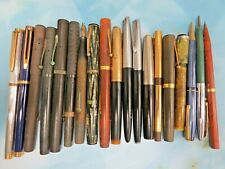 19 Vintage Waterman writing instruments, fountain, mech pencil, 18k, 14K *MORE