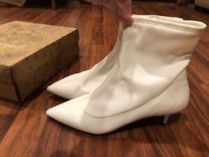 New FP Free People Marilyn Kitten Heel Boot sz 41 10 faux leather