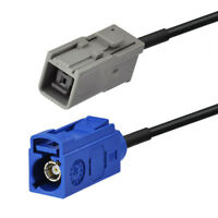 Fakra SMB C 5005 to HRS GT5-1S grey Jack cable 5FT for GPS aerial car navigation