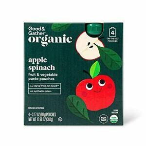 Good & Gather Organic Apple & Spinach Fruit and Vegetable Squeezers 4ct 12.68oz