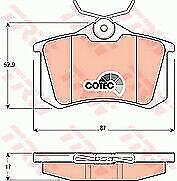 TRW GDB1330 Brake Pad Set