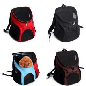 Cat Dog Pet Double Shoulder Backpack Mesh Bag Travel Outdoor Portable Carrier