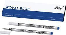 2 Montblanc  Fineliner  Refills Royal  Blue Medium  Pt New In Box 124499