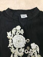 Womens Black, Gold, white rose Indian salwar kameez small / medium brand new