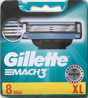Gillette Mach 3 Razors For Men 8 Razor Blades Refills, NEW GENUINE & SEALED
