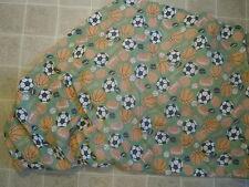 vtg All Sports balls glove BED SHEET Bottom/Fitted Thin Soft Soccer Basketball