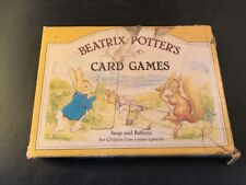 Beatrix Potter Card Games Snap and Rummy Vintage 1984