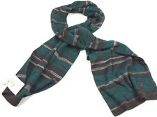 Guess Los Angeles Men Women Green & Grey Wool blend stripe cold weather scarf