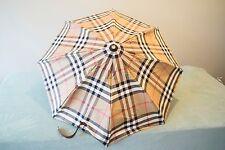 Burberry signature nova check compact folding umbrella with cover