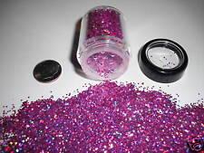 D00270  PREMIUM Grade Glitter 1mm Flake -Rasberry Laser