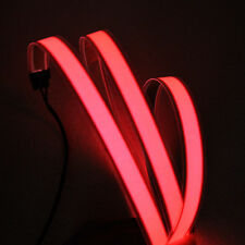3ft Red Neon Glowing Strobing Electroluminescent Wire (El strip)
