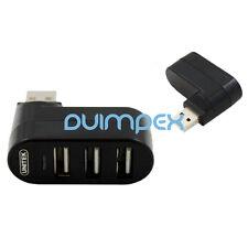 O39 Hub USB 3 Puertos Distribuidor Adaptador giratorio 180° para Portátil PC